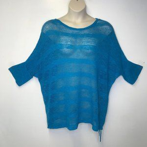 Lane Bryant blue loose knit pullover sweater